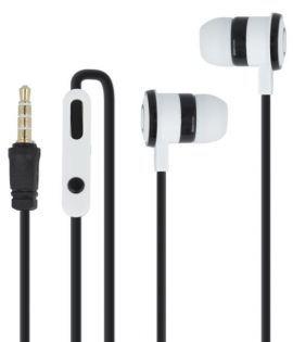 Słuchawki dokanałowe FOREVER CM-220 z mikrofonem Czarno-biały